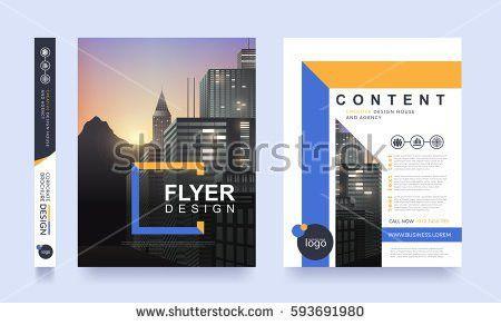 Poster Flyer Pamphlet Brochure Cover Design Stock Vector 609171098 ...