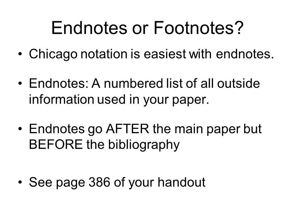 How to use Chicago-style Notation Most often used in history and ...