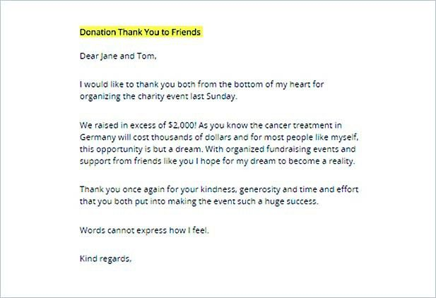 Thank You Letter for Donation: Tips on Writing
