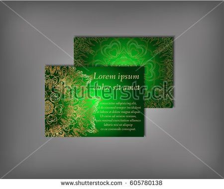 Set Gold Business Card Flyer Template Stock Vector 651442060 ...