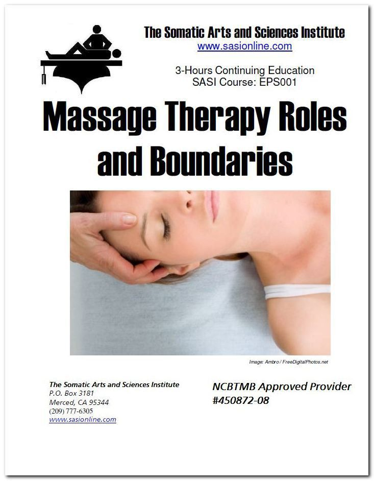 Online Massage Therapy CEUs |Ethics Roles and Boundaries (NCBTMB ...