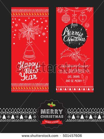 Christmas Restaurant Brochure Menu Template Vector Stock Vector ...