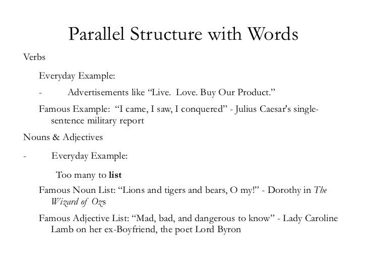 Mlc parallel structureintro