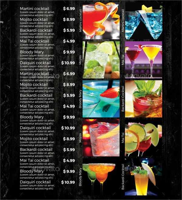 Sample Drink Menu Template - 20+ Download Documents in PSD, PDF