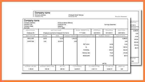 6+ paycheck stub templates | Securitas Paystub