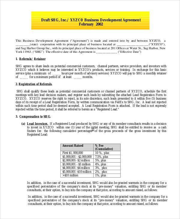 Development Contract Templates. Real Estate Development Consulting ...