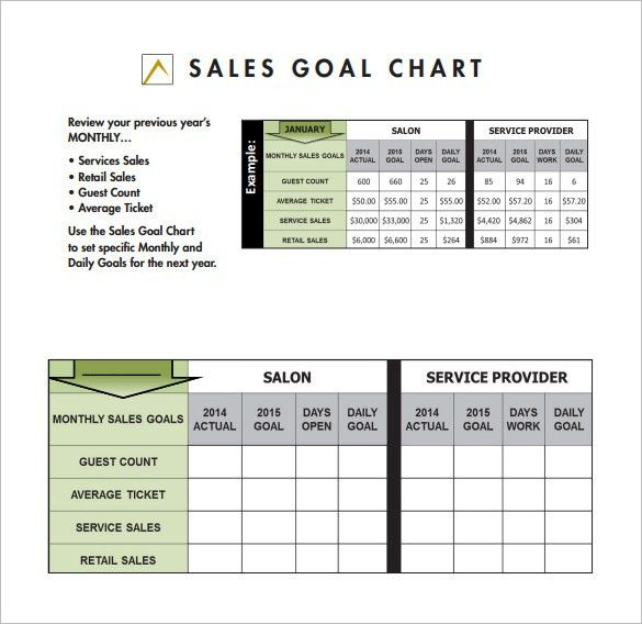 Goal Chart Template – 9+ Free Sample, Example, Format Download ...