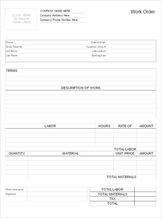 Work Order Form Software - Try it Free and Make Work Order Forms ...