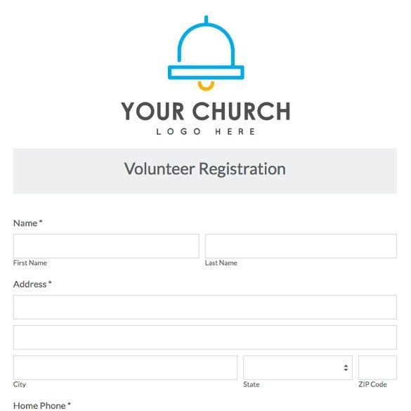 Church & Ministry Forms | Form Templates | Formstack