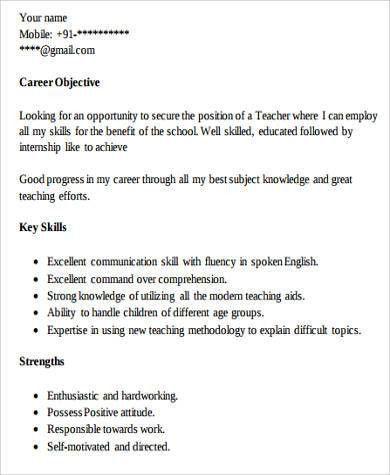 Teacher Resume Examples - 8+ Samples in Word, PDF