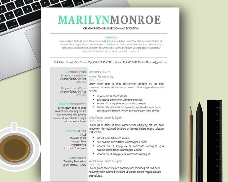 Word Resume Template Mac Free. resume template pages templates for ...