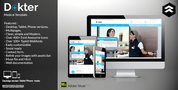 Hospital Adobe Muse Themes & Muse Templates from ThemeForest