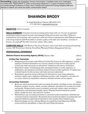 Sample Resume for an Accounting Position - dummies