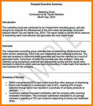 3+ executive summary examples | resume reference