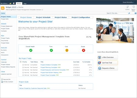 Free SharePoint 2010 Project Management Template now available on ...