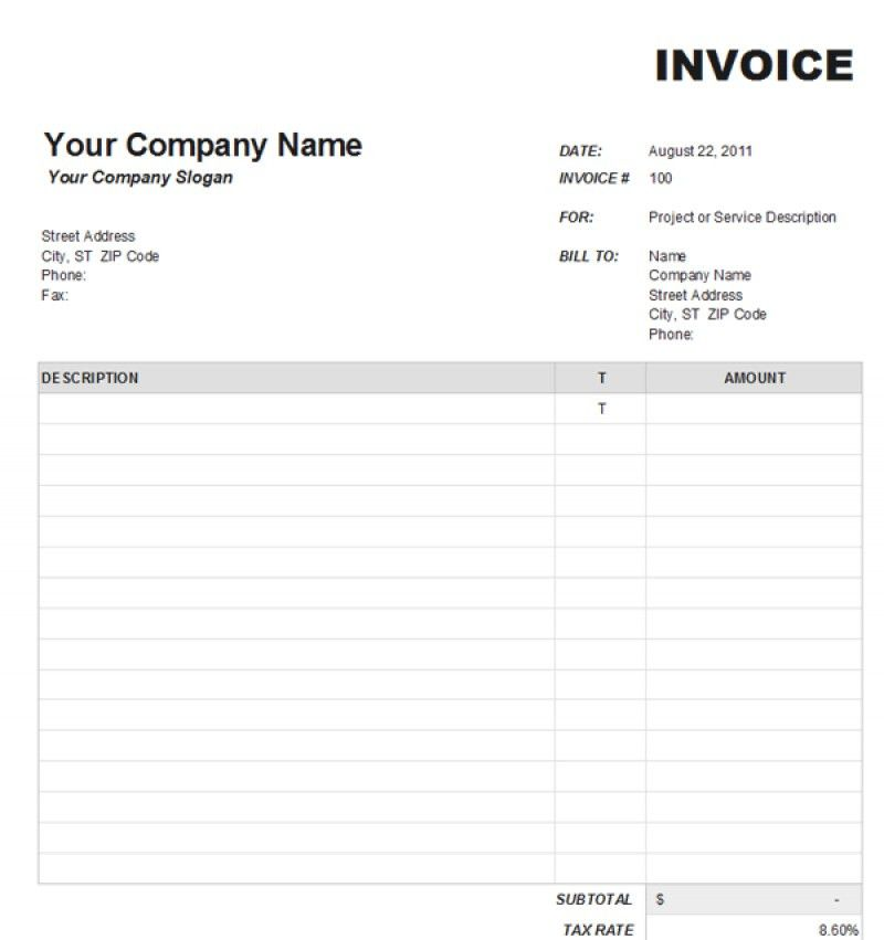 Lawn Care Invoice Template Excel | rabitah.net
