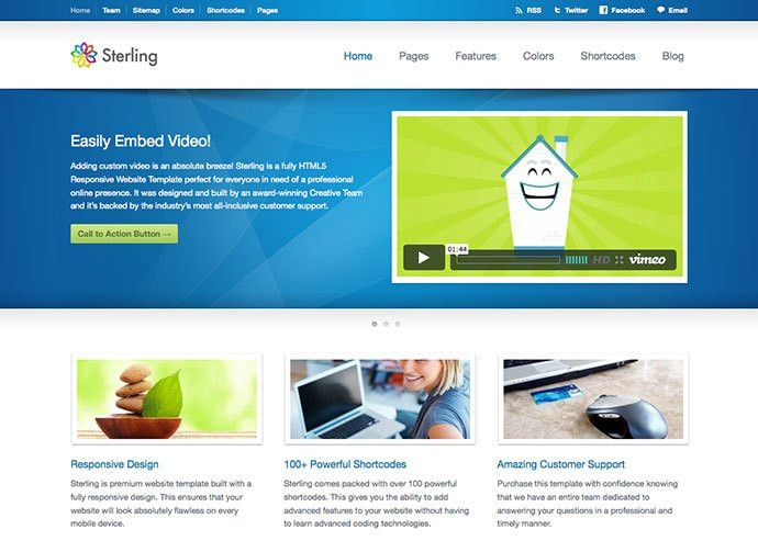 31 Best Web Hosting HTML Templates | Web & Graphic Design | Bashooka
