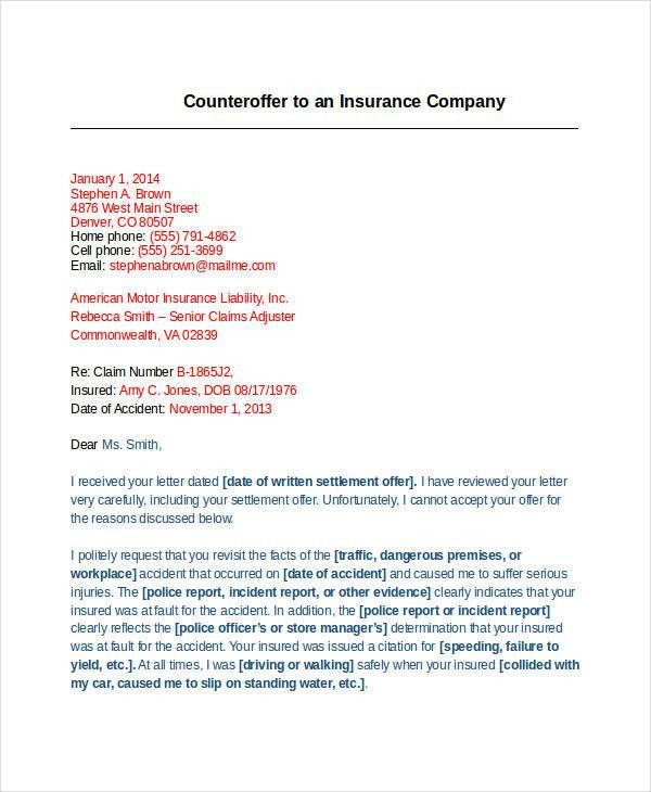 Counter Offer Letter Template - 9+ Free Word, PDF Format Download ...