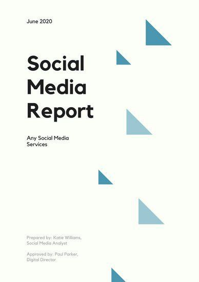 Steel Blue Right Triangles Social Media Report - Templates by Canva