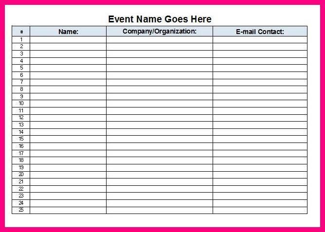 11 excel sign up sheet