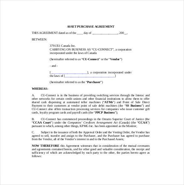 11+ Purchase Agreement Templates – Free Sample, Example, Format ...