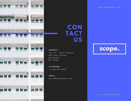 Scope Co-working Space Brochure - Templates by Canva