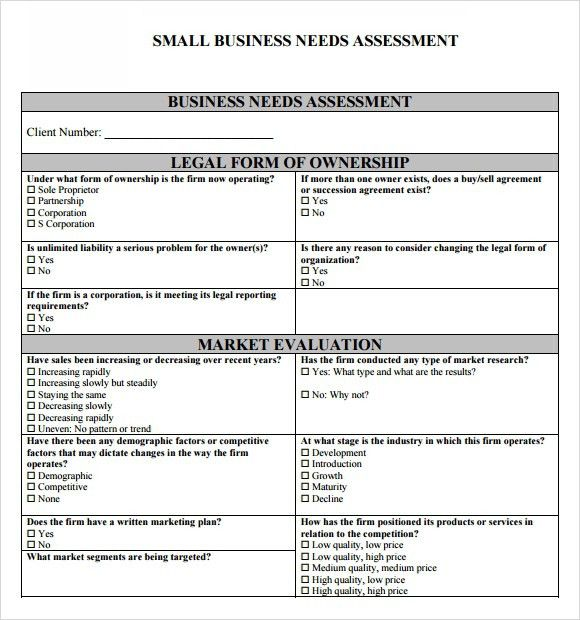 Needs Assessment Template | peerpex