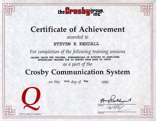 Computer course completion certificate format word certificate rigstar rigging school yadclub Image collections