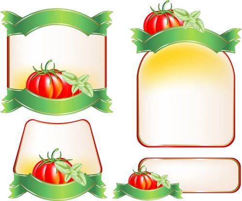 Set of products Labels templates vector 04 - Vector Label free ...