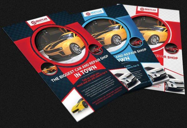 Car Dealer & Auto Services Business Flyer on Behance