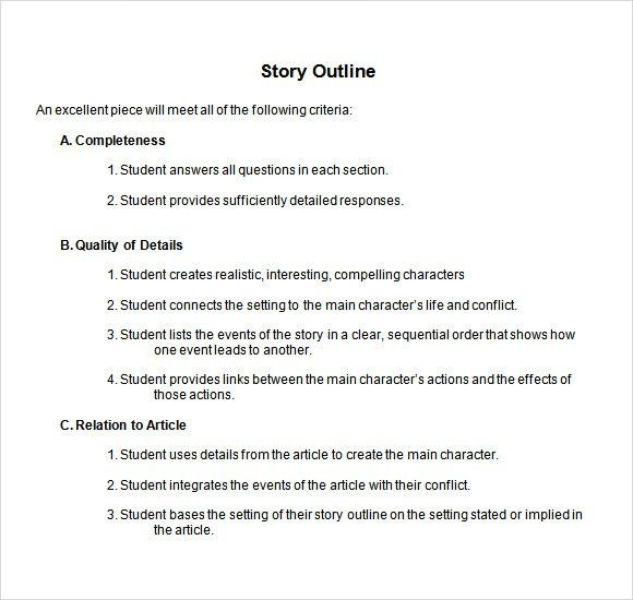 19+ Short Essay Outline Template | Story Outline Sample 9 ...