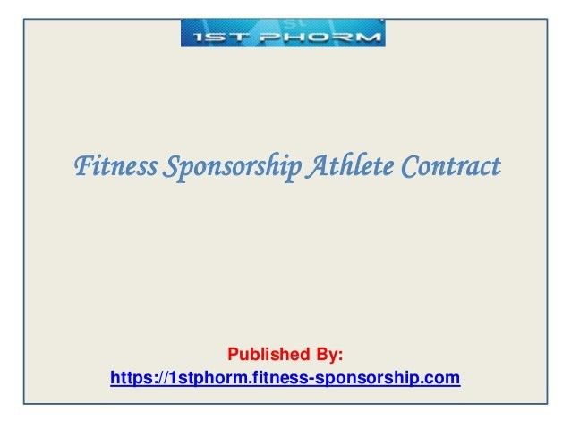 Fitness sponsorship athlete contract
