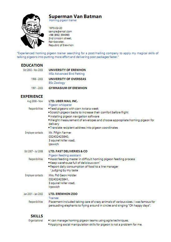 Resume Sample Format Pdf