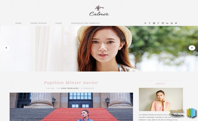 Calmer Fashion Blogger Template | Blogger Templates | Pinterest