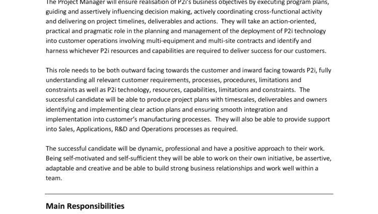 Construction Project Manager Job Description Program Manager ...