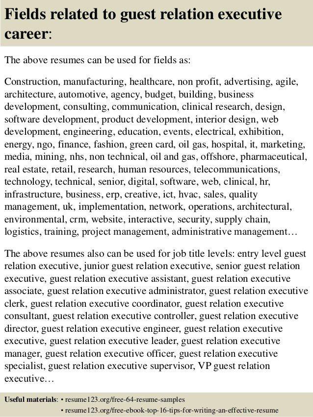 Guest Relation Officer Sample Resume Professional Guest Relation - guest relation officer sample resume