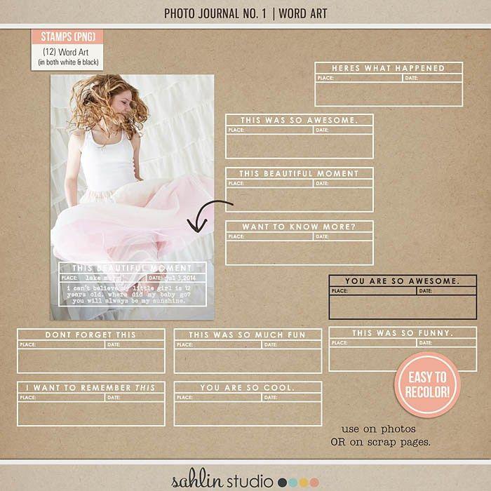 Photo Journal No. 1 Photo Templates | Sahlin Studio | Digital ...