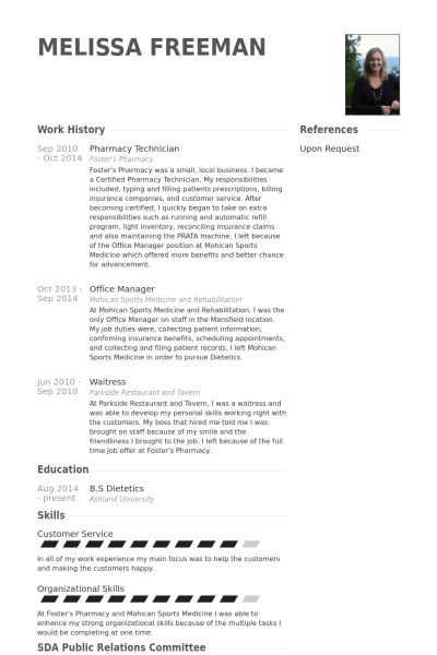 Pharmacy Technician Resume samples - VisualCV resume samples database