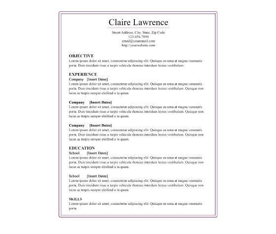 10 best Printable RESUMES images on Pinterest | Resume templates ...