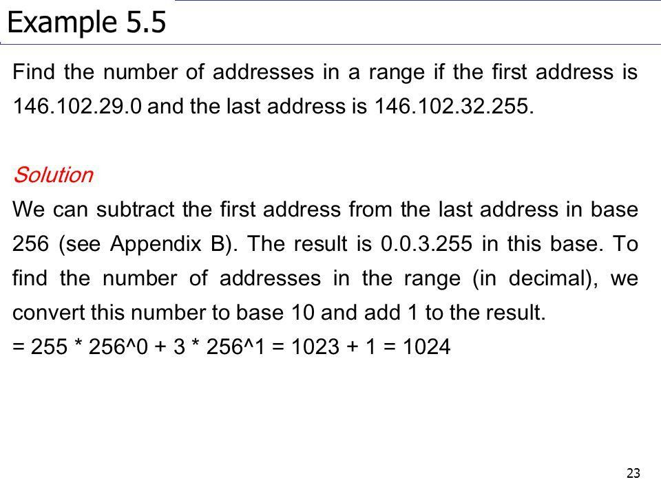 Network Protocols Chapter 5 (TCP/IP Suite Book): IPv4 Addresses ...