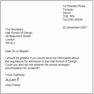 6+ examples of formal letter writing | mailroom clerk