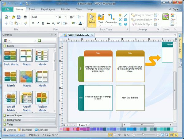 SWOT Diagram Software - Draw SWOT Diagram Easily