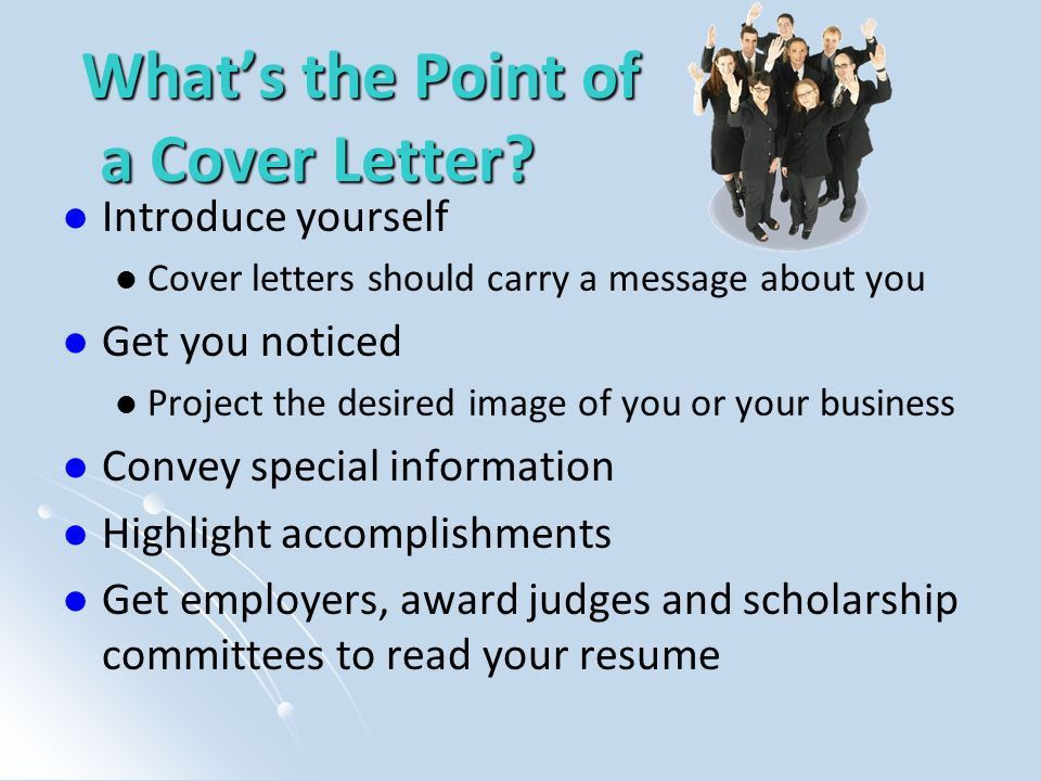 How to Write a Cover Letter - ppt video online download
