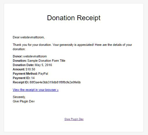 How to Create Dramatic Donation Email Receipts – GiveWP