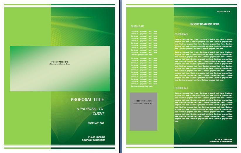 Graphic Design Proposal Template | Formsword: Word Templates ...