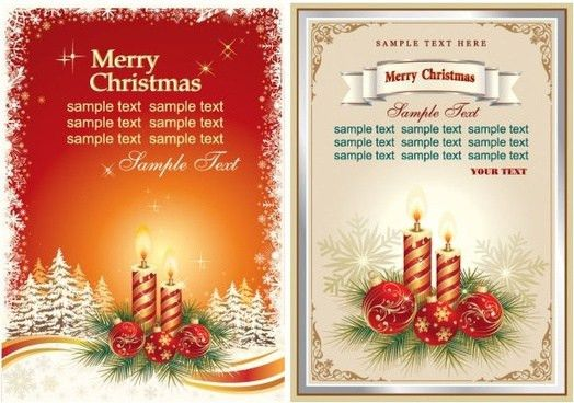 Beautiful christmas card wallpaper free vector download (25,714 ...
