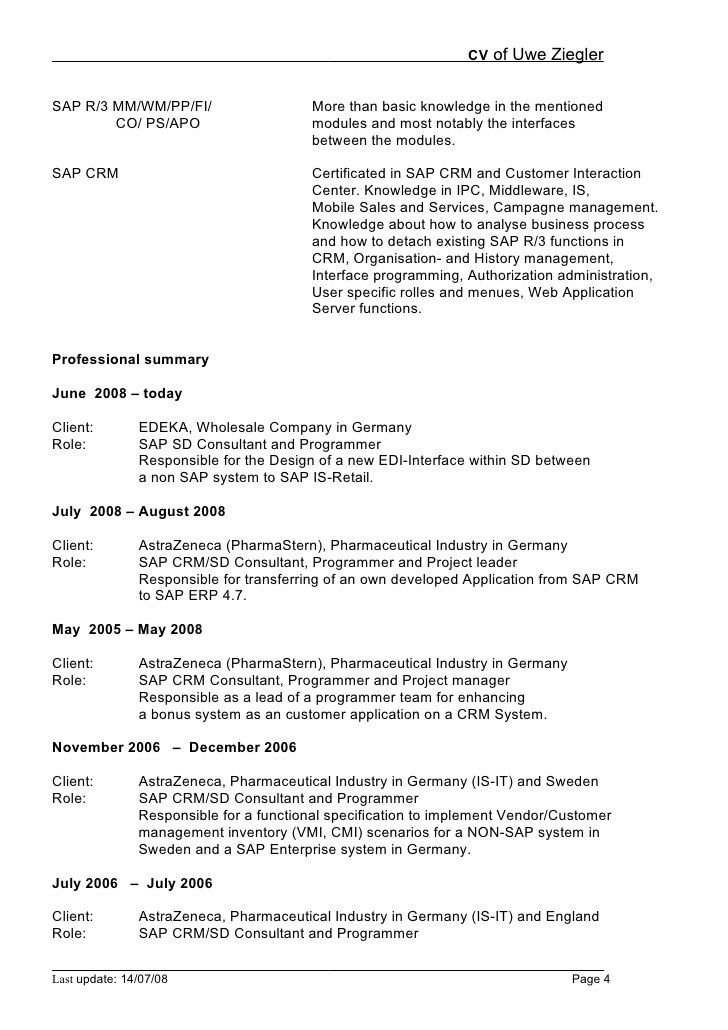 sap fico sample resume download sample sap resume