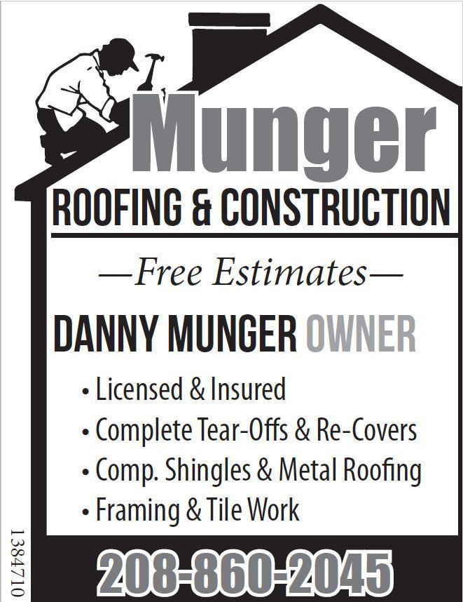 Ad Flyer for Munger Roofing & Construction from Messenger-Index