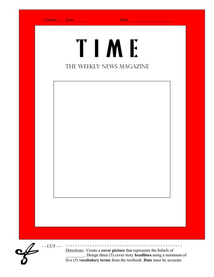 Magazine Cover Template - download free documents for PDF, Word ...