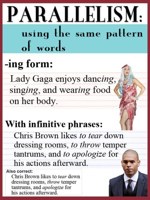 Best 25+ Parallelism grammar ideas on Pinterest | Biggest word in ...